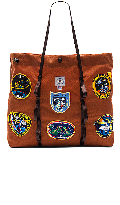 Epperson Mountaineering Vintage NASA Patch Large Tote in Rust.
