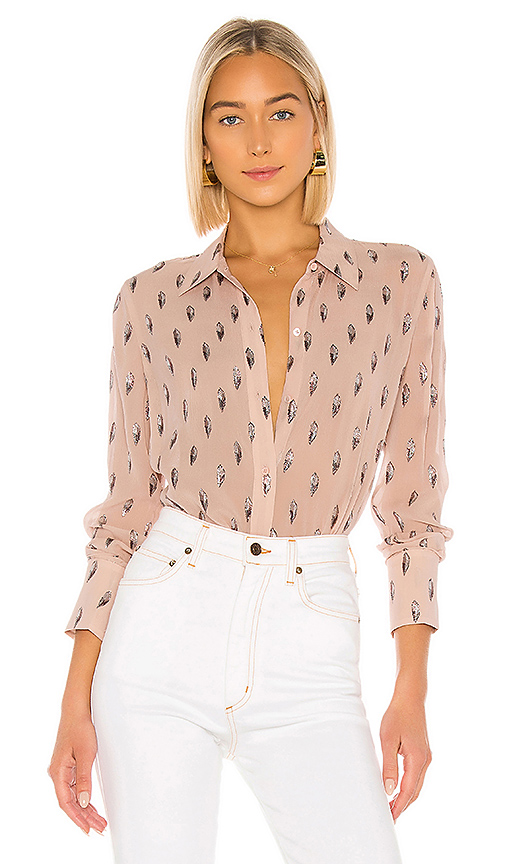Equipment Tops EQUIPMENT SEDIENNE BLOUSE IN MISTY ROSE