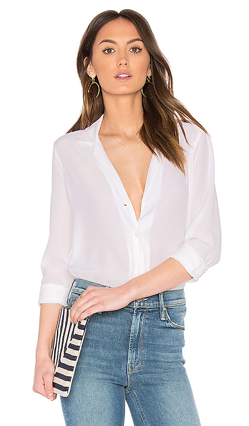 Equipment Adalyn Blouse in Ivory