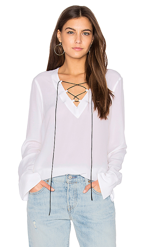 Equipment Avianna Top in White