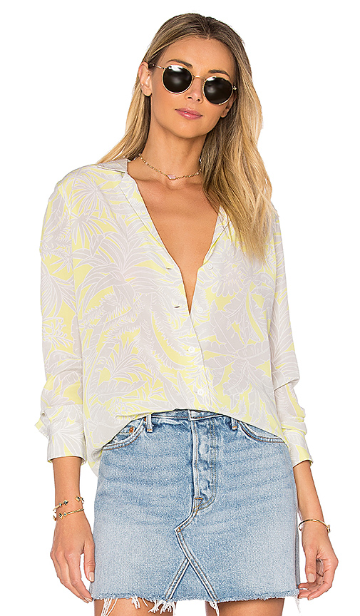 Equipment Adalyn Tropic Button Up in Yellow