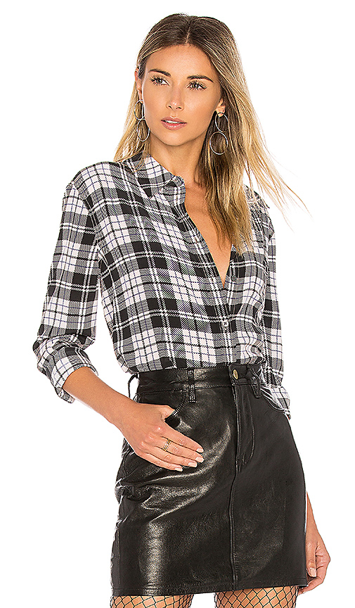 Equipment Reese Plaid Button Up in Black