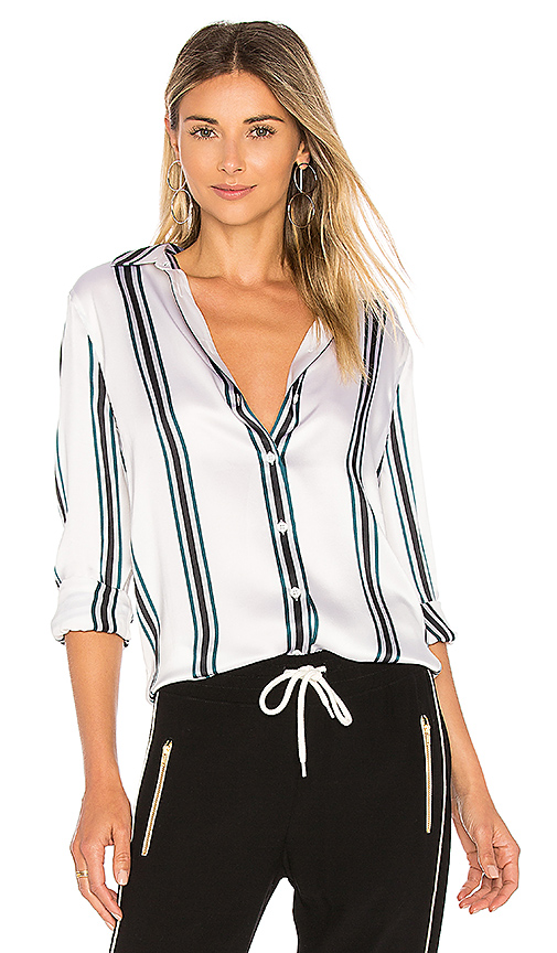 Equipment Essential Shine Button Up in White