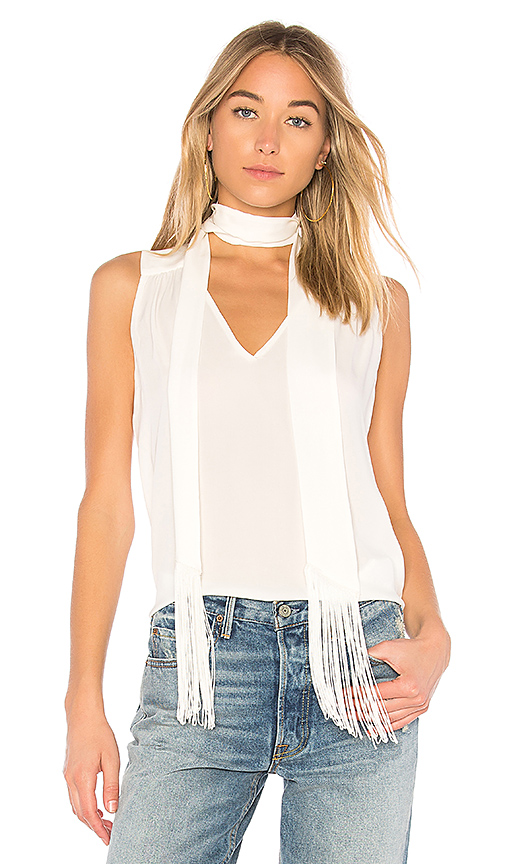 Erin Fetherston L'Amant Tie Neck Blouse in Ivory