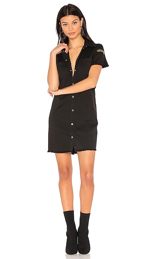 Etienne Marcel Denim Button Up Dress in Black