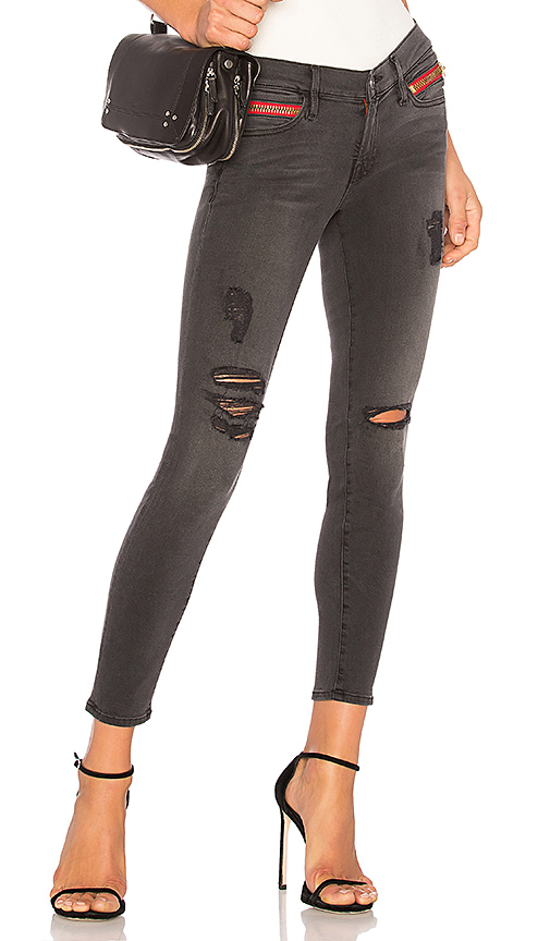 ETIENNE MARCEL Distressed Ankle Jeans
