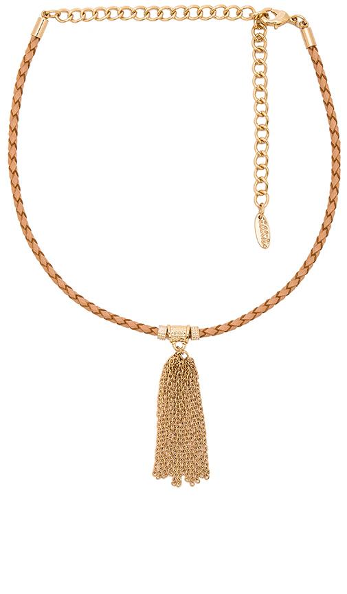 Ettika Braided Choker in Metallic Gold