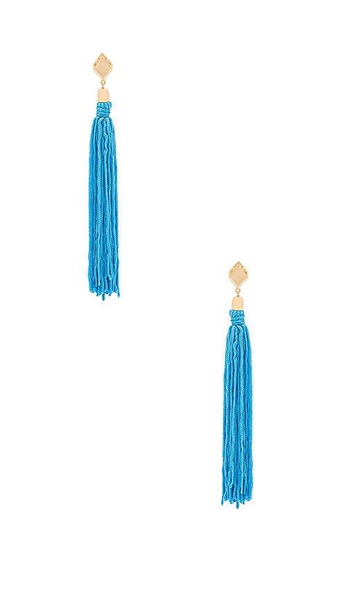 Ettika Tassel Earrings in Metallic Gold
