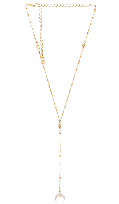Ettika Hanging Crescent Lariat in Metallic Gold