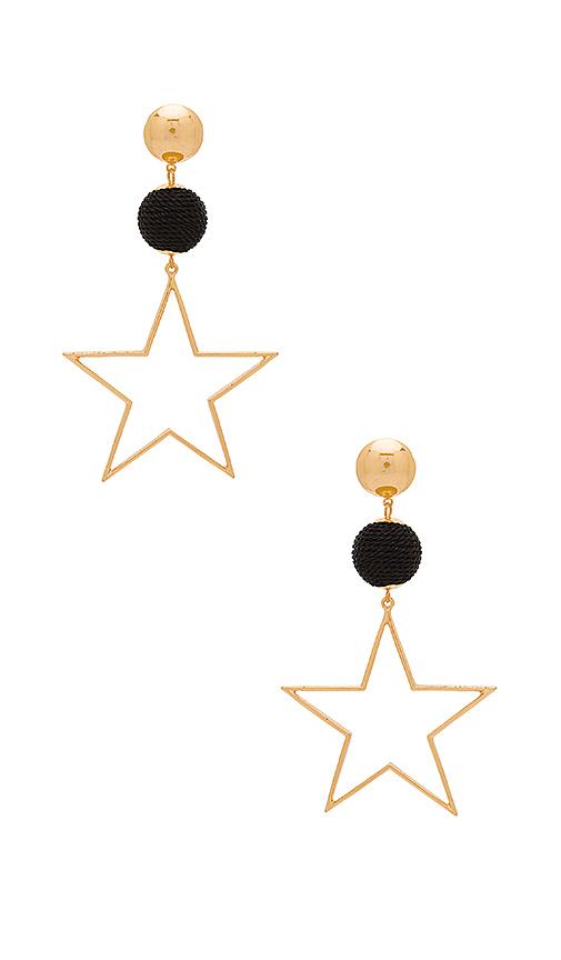 Ettika Bon Bon Star Earrings in Metallic Gold