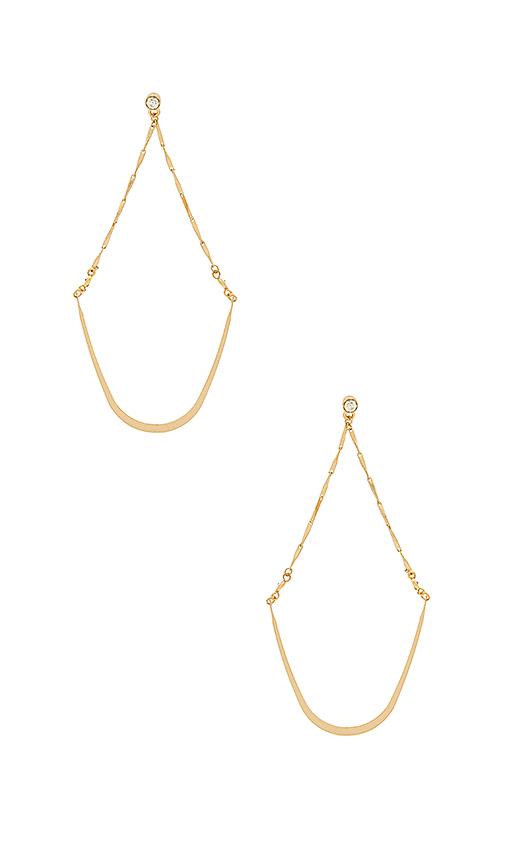 Ettika Ballroom Beauty Earrings in Metallic Gold