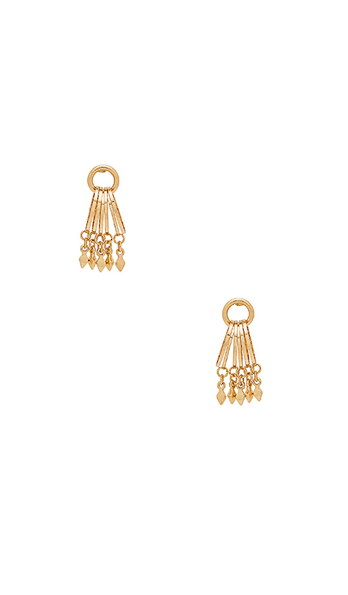 Ettika Perfect Couple Earrings in Metallic Gold