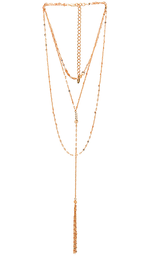 Ettika Stepping Out Necklace in Metallic Gold