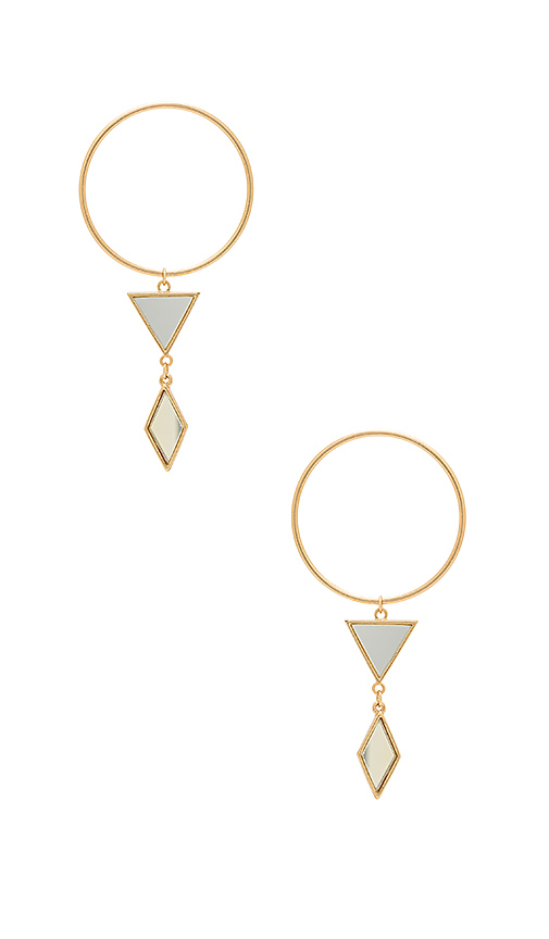 Ettika Gilded Geometry Earrings in Metallic Gold
