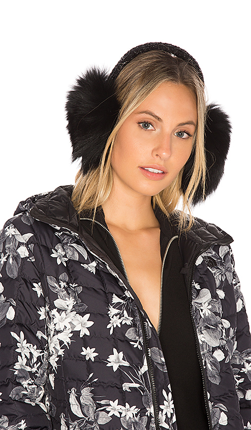 Eugenia Kim Fox Fur Janine Earmuffs in Black