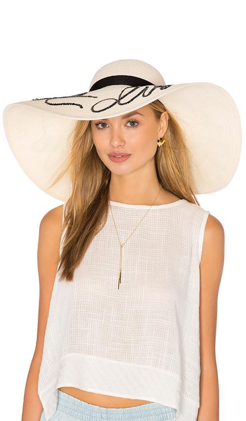 Eugenia Kim Sunny Do Not Disturb Hat in Cream