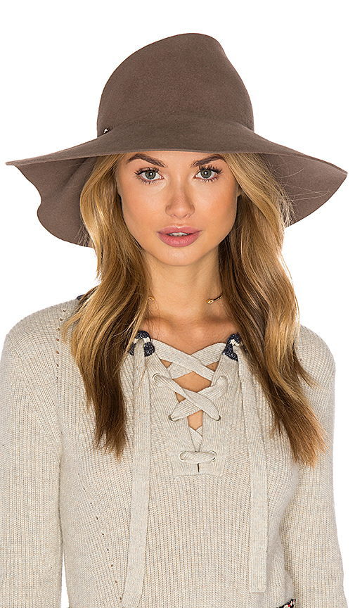 Eugenia Kim Catherine Hat in Taupe.