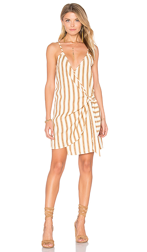 FAITHFULL THE BRAND Kara Wrap Dress in Ivory. - size L (also in M)
