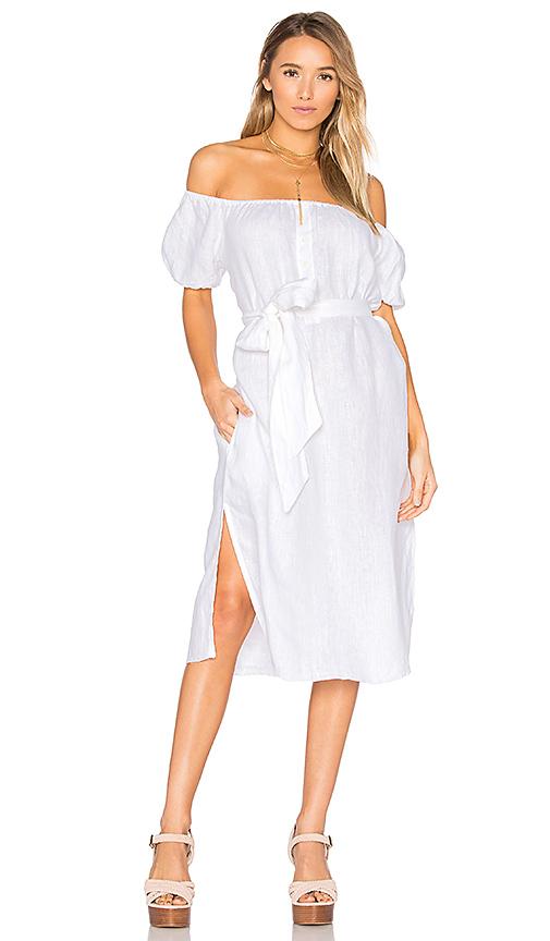 FAITHFULL THE BRAND Figuera Dress in White