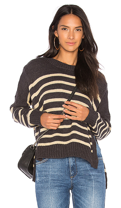 FAITHFULL THE BRAND Lisbon Knit in Charcoal. - size L (also in M,S,XS)