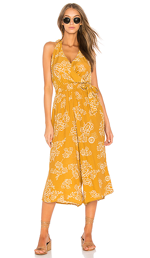 FAITHFULL THE BRAND x REVOLVE Lima Jumpsuit in Mustard. - size L (also in M,S,XS)