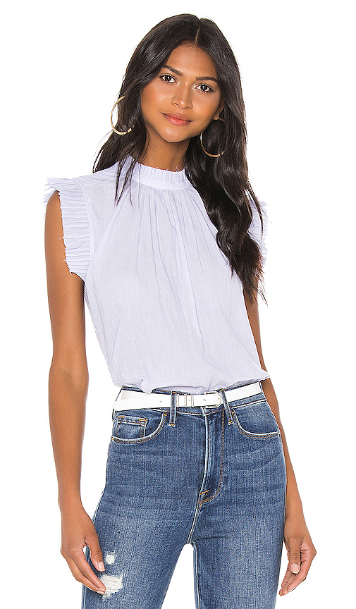 Frame Tops Tipped Sleeveless Top