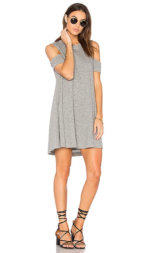 Feel the Piece Eads Mini Dress in Gray