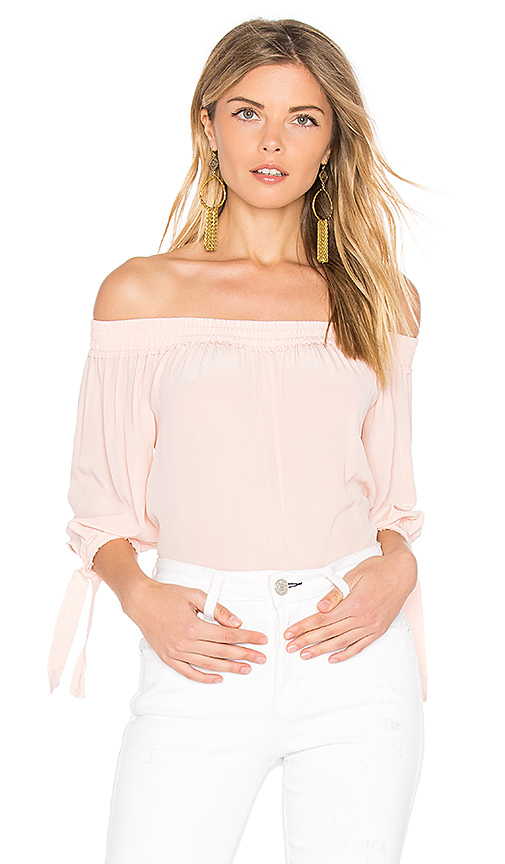 Feel the Piece Beaumont Off the Shoulder Top in Pink