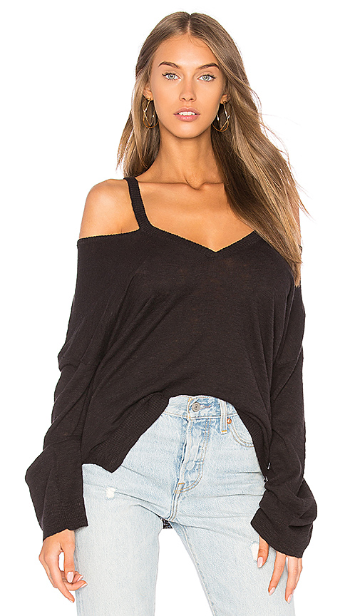 Feel the Piece Ensley Cut Out Top in Black