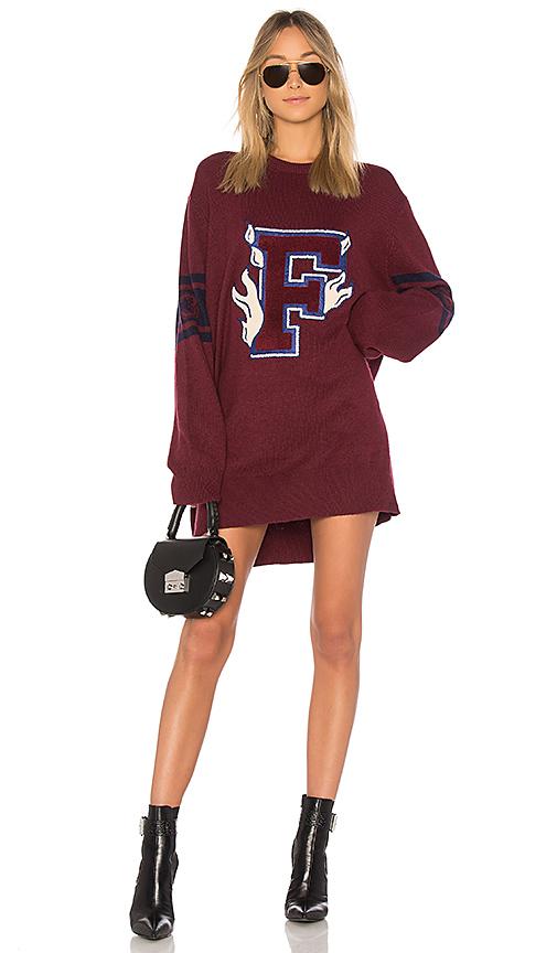 Fenty by Puma Varsity Letter Sweater in Burgundy. - size XXS (also in L,M,S,XS)