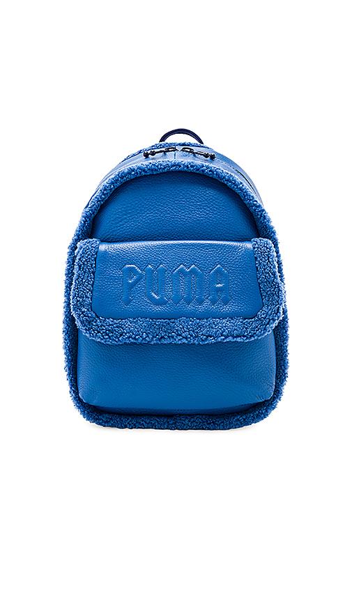Fenty by Puma Mini Sherpa Backpack in Royal