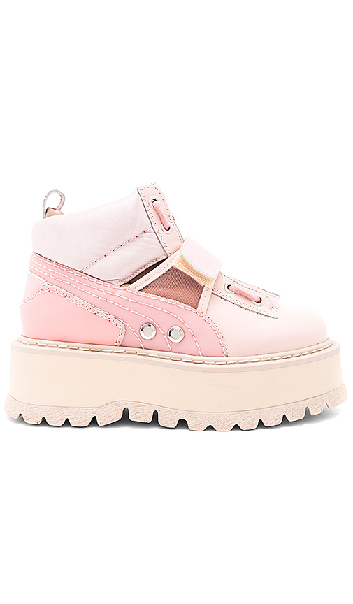 Fenty by Puma Strap Sneaker Boot in Pink. - size 6.5 (also in 7.5,8.5,9.5)