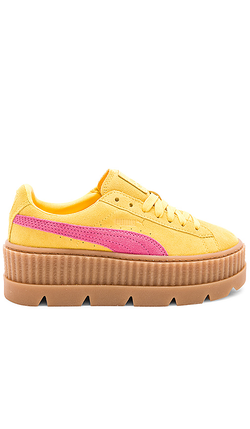 Fenty by Puma Cleated Suede Creeper in Yellow