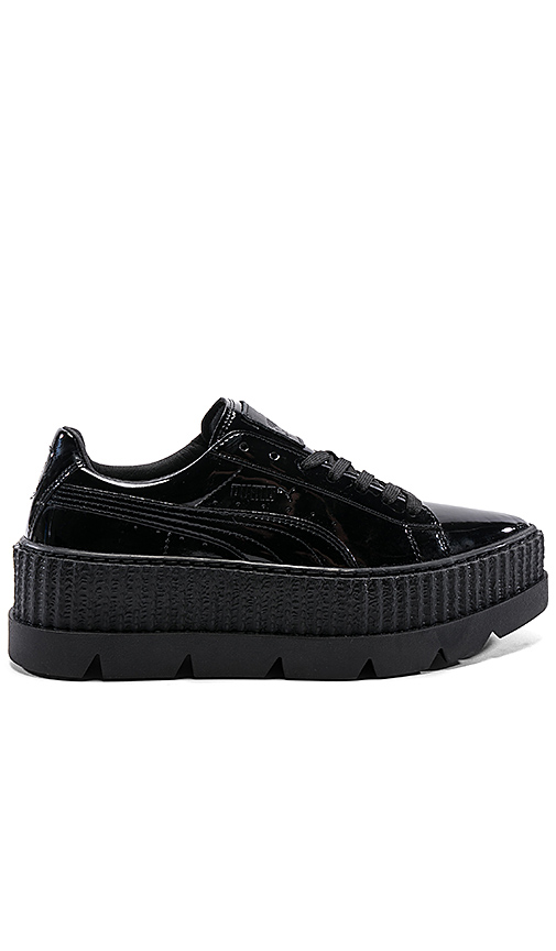 Fenty by Puma Pointy Patent Creeper in Black