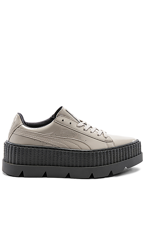 Fenty by Puma Pointy Patent Creeper in Gray