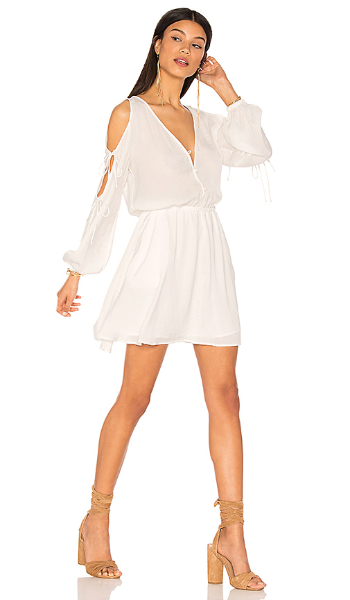 The Fifth Label The Nightingale Long Sleeve Dress in White