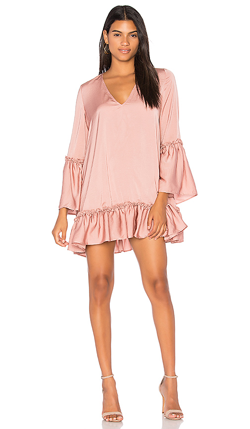 The Fifth Label Banjo Long Sleeve Dress in Blush