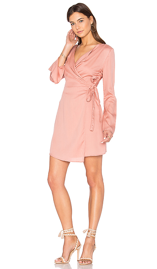 The Fifth Label Harmony Wrap Dress in Pink. - size L (also in M,S,XS, XXS)