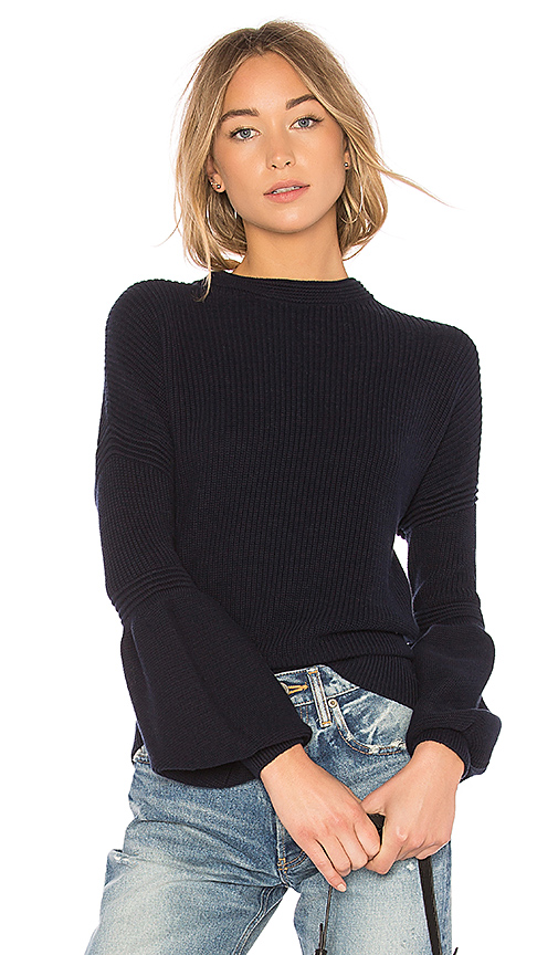 The Fifth Label Sculpture Knit Sweater in Navy. - size L (also in S,XS,M)