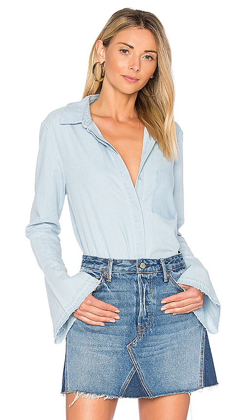 The Fifth Label The Motel Button Up in Blue