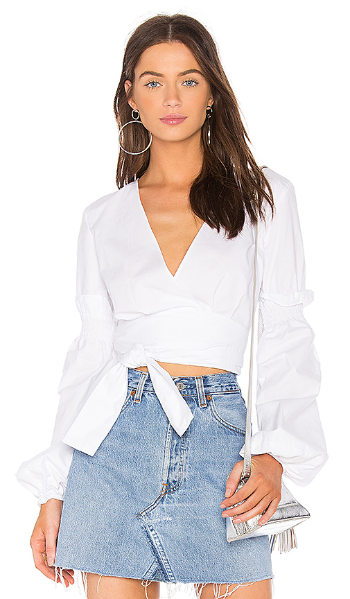 The Fifth Label Beyond Wrap Top in White. - size L (also in M,S,XS, XXS)