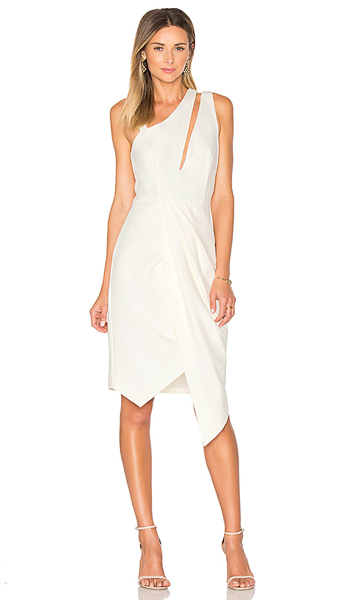 Finders Keepers Henson Wrap Dress in Ivory