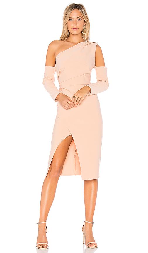 Finders Keepers Oblivion One Shoulder Dress in Pink