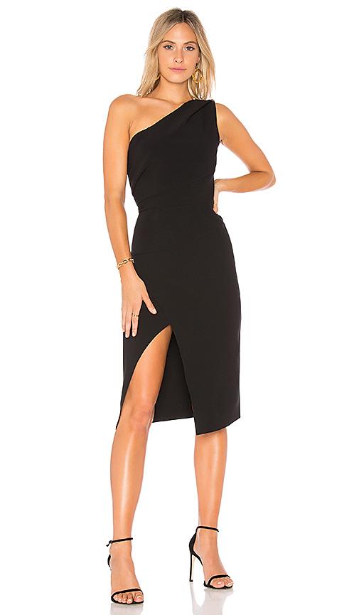 Finders Keepers Oblivion Midi Dress in Black