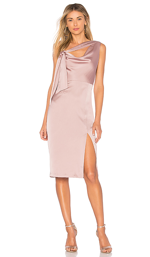 Finders Keepers Aspects Midi Dress in Mauve