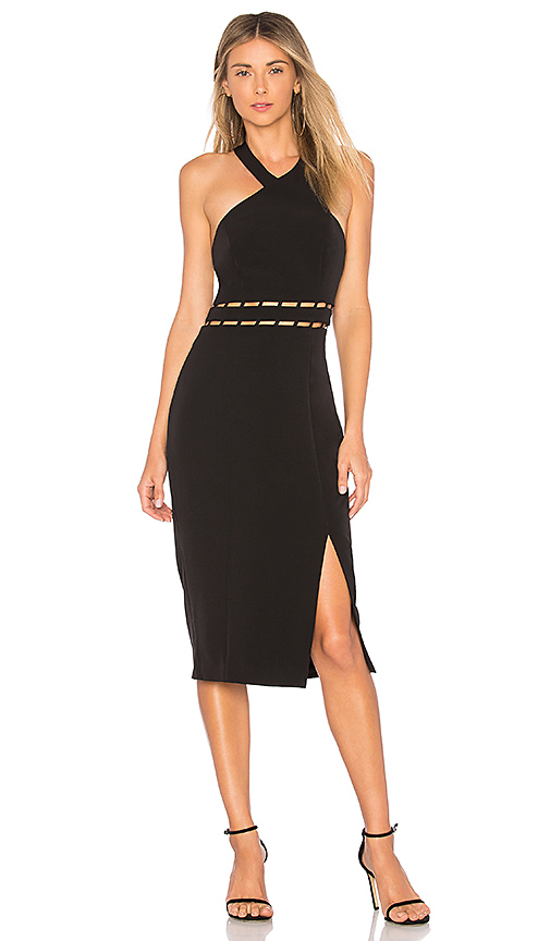 Finders Keepers Solar Midi Dress in Black