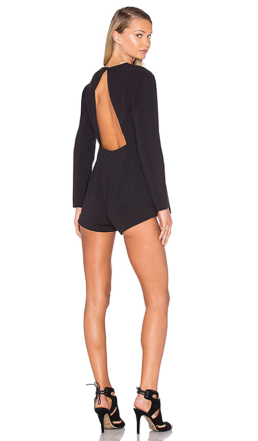 Finders Keepers Round Up Playsuit in Black. - size L (also in M,S,XS)