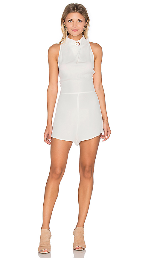 Finders Keepers Great Heights Romper in White. - size M (also in L,S,XS)