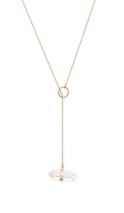Five and Two Tavi II Necklace in Metallic Gold