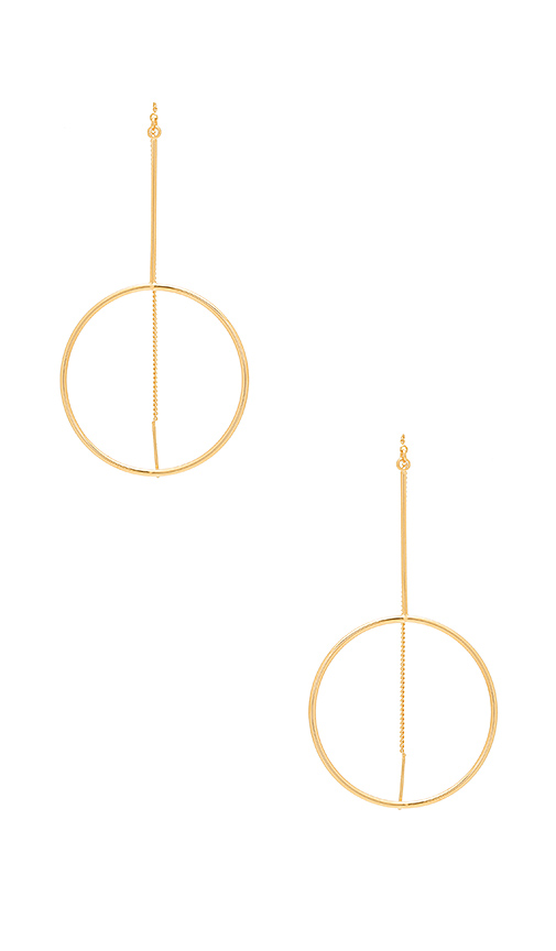 Five and Two Diego Earring in Metallic Gold